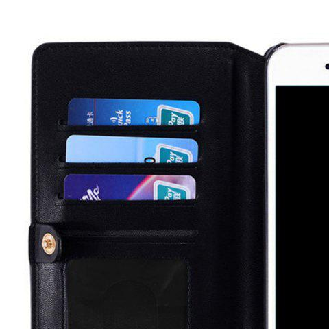 Outfits Multifounction Faux Leather Card Slot Flip Wallet Case For iPhone - FOR IPHONE 7 BLACK Mobile