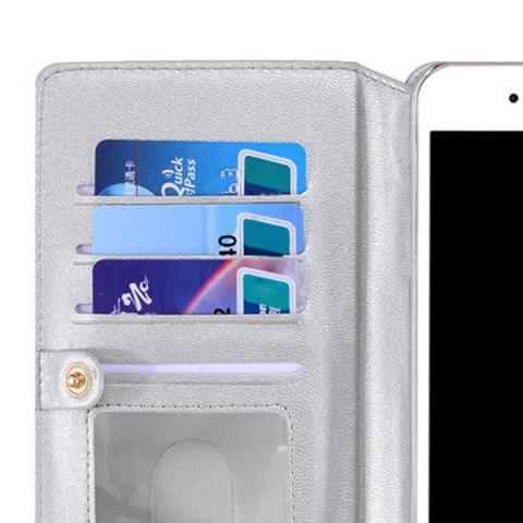 Trendy Multifounction Faux Leather Card Slot Flip Wallet Case For iPhone - FOR IPHONE 6 / 6S SILVER Mobile