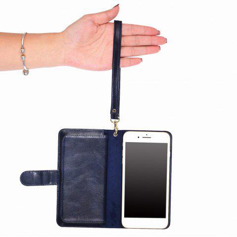 Outfit 2 In 1 Detachable Wallet Phone Case - FOR IPHONE 6 PLUS / 6S PLUS BLUE Mobile