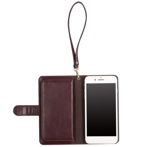 Outfit 2 In 1 Detachable Wallet Phone Case - FOR IPHONE 6 / 6S BROWN Mobile