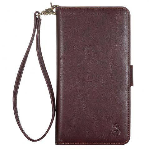 Outfits 2 In 1 Detachable Wallet Phone Case - FOR IPHONE 6 / 6S BROWN Mobile