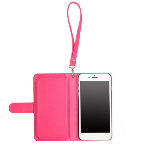 Outfits 2 In 1 Detachable Wallet Phone Case - FOR IPHONE 6 PLUS / 6S PLUS ROSE RED Mobile