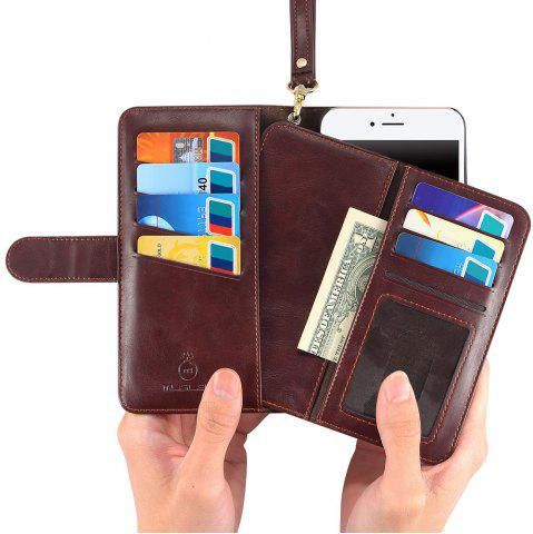 Outfits 2 In 1 Detachable Wallet Phone Case - FOR IPHONE 7 BROWN Mobile