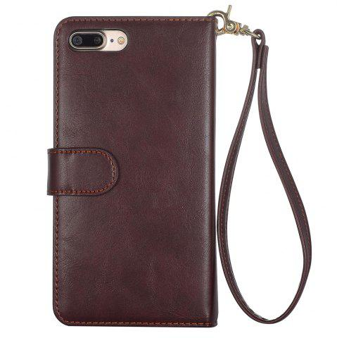 Latest 2 In 1 Detachable Wallet Phone Case - FOR IPHONE 7 BROWN Mobile