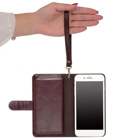 Outfit 2 In 1 Detachable Wallet Phone Case - FOR IPHONE 7 BROWN Mobile