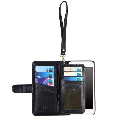 Outfit 2 In 1 Detachable Wallet Phone Case - FOR IPHONE 7 PLUS BLACK Mobile