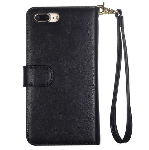 Fashion 2 In 1 Detachable Wallet Phone Case - FOR IPHONE 7 PLUS BLACK Mobile