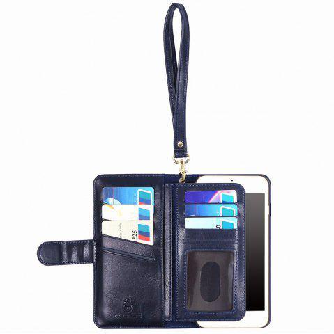Latest 2 In 1 Detachable Wallet Phone Case - FOR IPHONE 7 PLUS BLUE Mobile