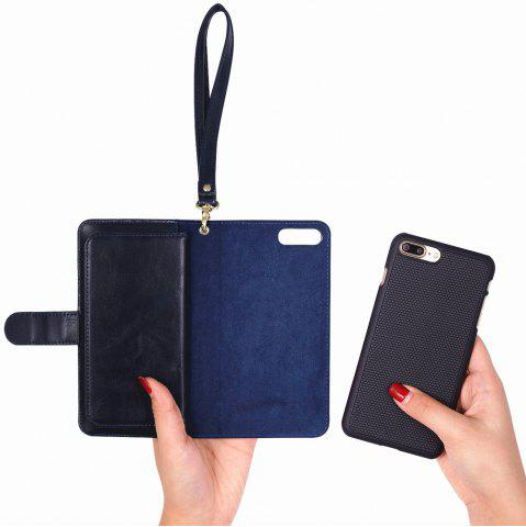 Hot 2 In 1 Detachable Wallet Phone Case - FOR IPHONE 7 PLUS BLUE Mobile