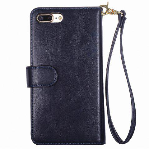 Sale 2 In 1 Detachable Wallet Phone Case - FOR IPHONE 7 PLUS BLUE Mobile