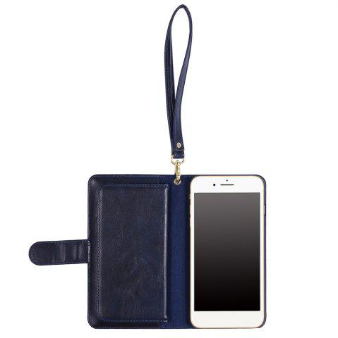 Buy 2 In 1 Detachable Wallet Phone Case - FOR IPHONE 7 PLUS BLUE Mobile