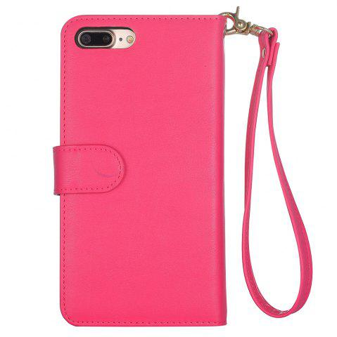 Latest 2 In 1 Detachable Wallet Phone Case - FOR IPHONE 7 PLUS ROSE RED Mobile