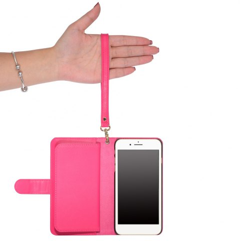 Sale 2 In 1 Detachable Wallet Phone Case - FOR IPHONE 7 PLUS ROSE RED Mobile