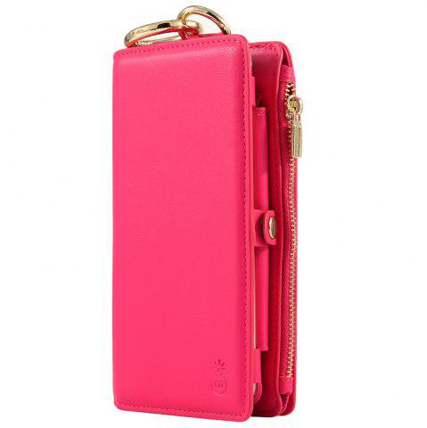 Outfit 2 In 1 Detachable Zipper Wallet Case For iPhone - FOR IPHONE 7 ROSE RED Mobile