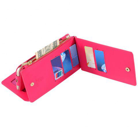 Shops 2 In 1 Detachable Zipper Wallet Case For iPhone - FOR IPHONE 7 ROSE RED Mobile
