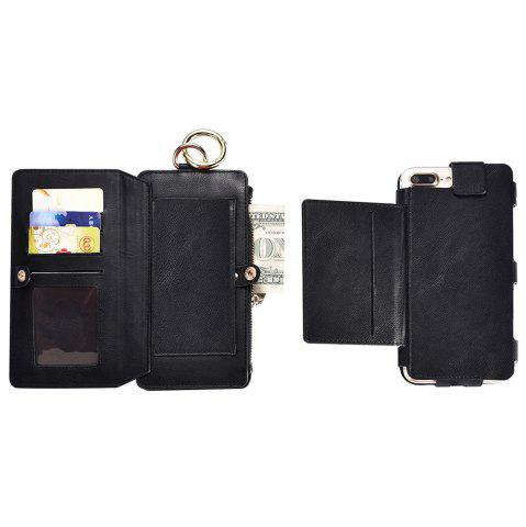 Outfit 2 In 1 Detachable Zipper Wallet Case For iPhone - FOR IPHONE 6 PLUS / 6S PLUS BLACK Mobile