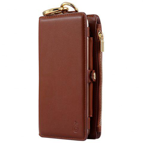 Latest 2 In 1 Detachable Zipper Wallet Case For iPhone - FOR IPHONE 6 / 6S BROWN Mobile