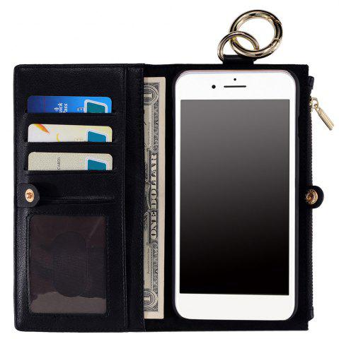 Affordable 2 In 1 Detachable Wallet Case For iPhone Samsung - FOR IPHONE 5 / 5S / SE BLACK Mobile
