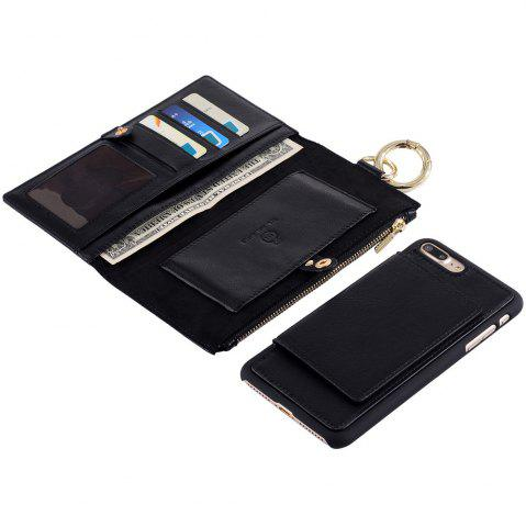Hot 2 In 1 Detachable Wallet Case For iPhone Samsung - FOR IPHONE 5 / 5S / SE BLACK Mobile