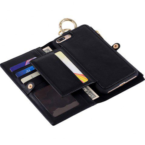 Online 2 In 1 Detachable Wallet Case For iPhone Samsung - FOR IPHONE 5 / 5S / SE BLACK Mobile