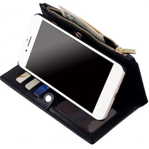 New 2 In 1 Detachable Wallet Case For iPhone Samsung - FOR IPHONE 5 / 5S / SE BLACK Mobile
