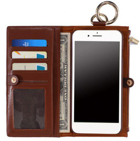 2 en 1 Case Wallet détachables Pour iPhone Samsung Brun POUR IPHONE 7 PLUS