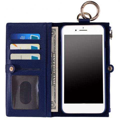 2 en 1 Case Wallet détachables Pour iPhone Samsung Bleu FOR SAMSUNG S6 EDGE