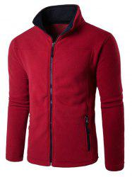 Zip Up Pocket Fleece Jacket