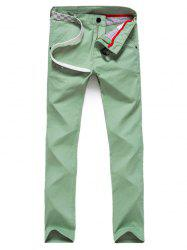 Pocket Zipper Fly Straight Pants