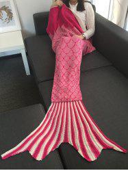 Home Decor Knit Striped Mermaid Blanket Throw