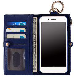2 en 1 Case Wallet détachables Pour iPhone Samsung - Bleu