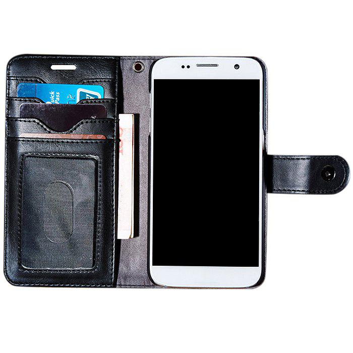 Trendy Faux Leather Flip Wallet Case with Card Slot For iPhone