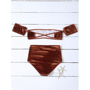 Velvet Off The Shoulder Bikini - Brun M