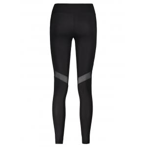 Mesh Panel Sporty Running Leggings - BLACK XL