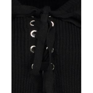 Lace Up Jumper - BLACK ONE SIZE