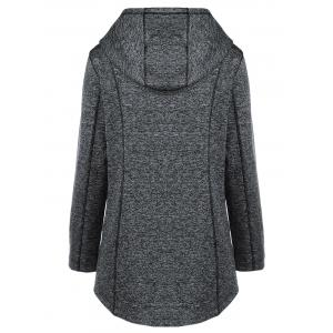 Heather Inclined Zipper Hoodie - MOUSE GREY XL