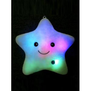 Star Shape Variable Color Luminescence Pillow - Light Blue - W71 Inch * L79 Inch