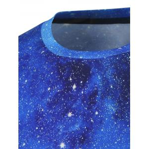 Short Sleeve Crew Neck Galaxy Tee -