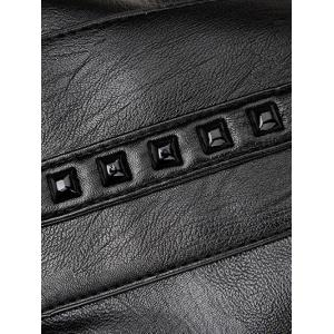 Studded Faux Leather Shoulder Bag -