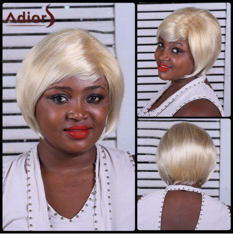 Adiors Side Bang Straight Short Synthetic Wig - COLORMIX