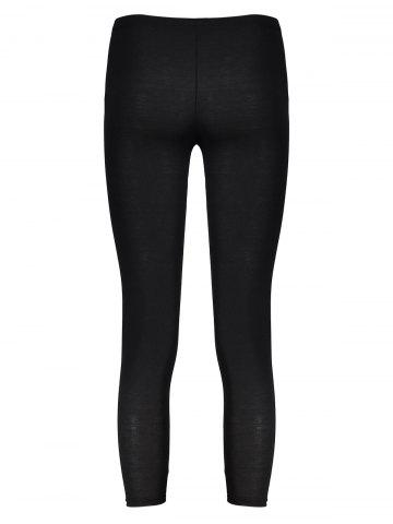 Store New Sexy Ripped Torn Slashed Leggings Punk Low Rise - ONE SIZE BLACK Mobile