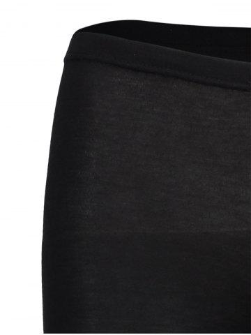 Shop New Sexy Ripped Torn Slashed Leggings Punk Low Rise - ONE SIZE BLACK Mobile