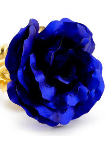Buy Long Stem Dipped Gold Foil Rose in Gift Box with Stand - BLUE  Mobile