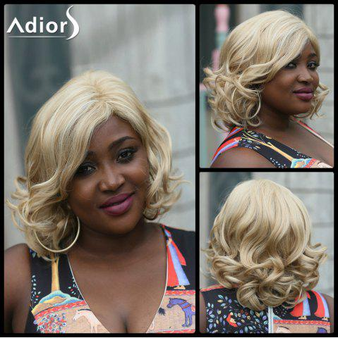Shop Adiors Side Part Fluffy Wavy Medium Synthetic Wig LIGHT BLONDE