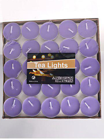 50PCS Unscented Smokeless Romantic Gift Wrapped Candles - Light Purple - W59 Inch * L51 Inch