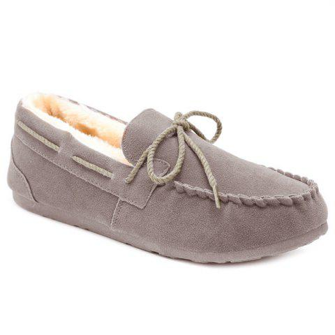 Fashion Fur Lined Suede Boat Shoes