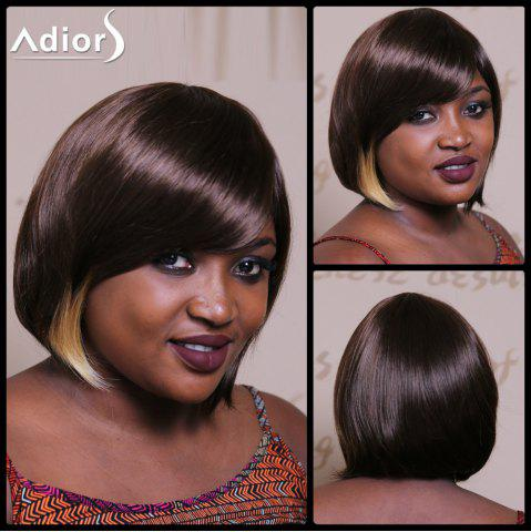 Adiors Bob Highlight Side Bang Short Silky Straight Synthetic Wig