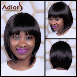 Short Synthetic Full Bang Straight Exquisite Capless Wig