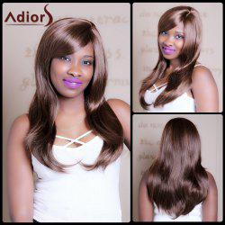 Attractive Dark Brown Mixed Capless Vogue Straight Side Bang Synthetic Wig For Women