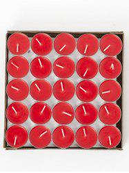 50PCS Unscented Smokeless Romantic Gift Wrapped Candles